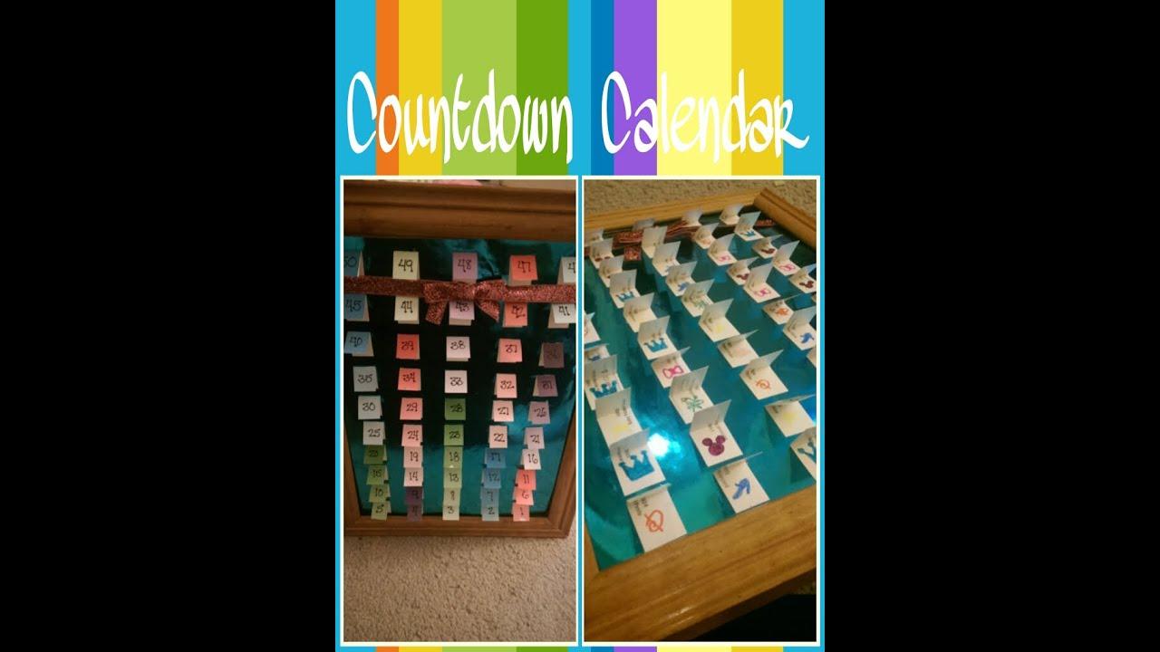 Diy Countdown Calendar : Diy disney countdown calendar youtube