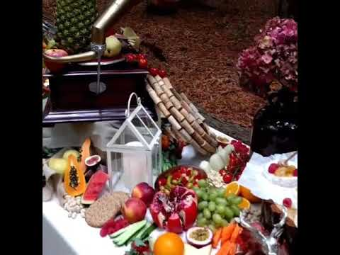 Woodland wedding grazing table reception