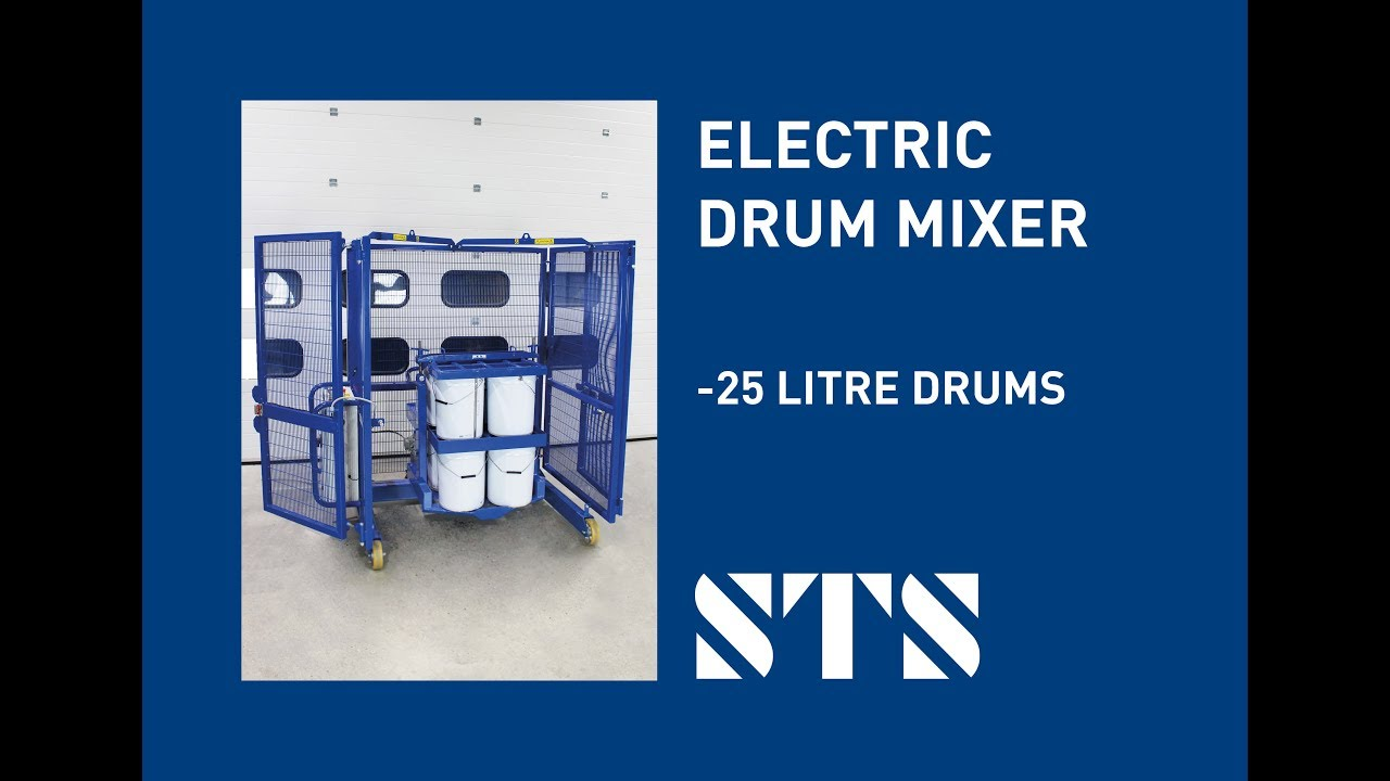 STS - 25-Litre Paint Drum Mixer Drum Tumbler 8 Drum Mixer, Adjustable Head (Model: DME01-SP)