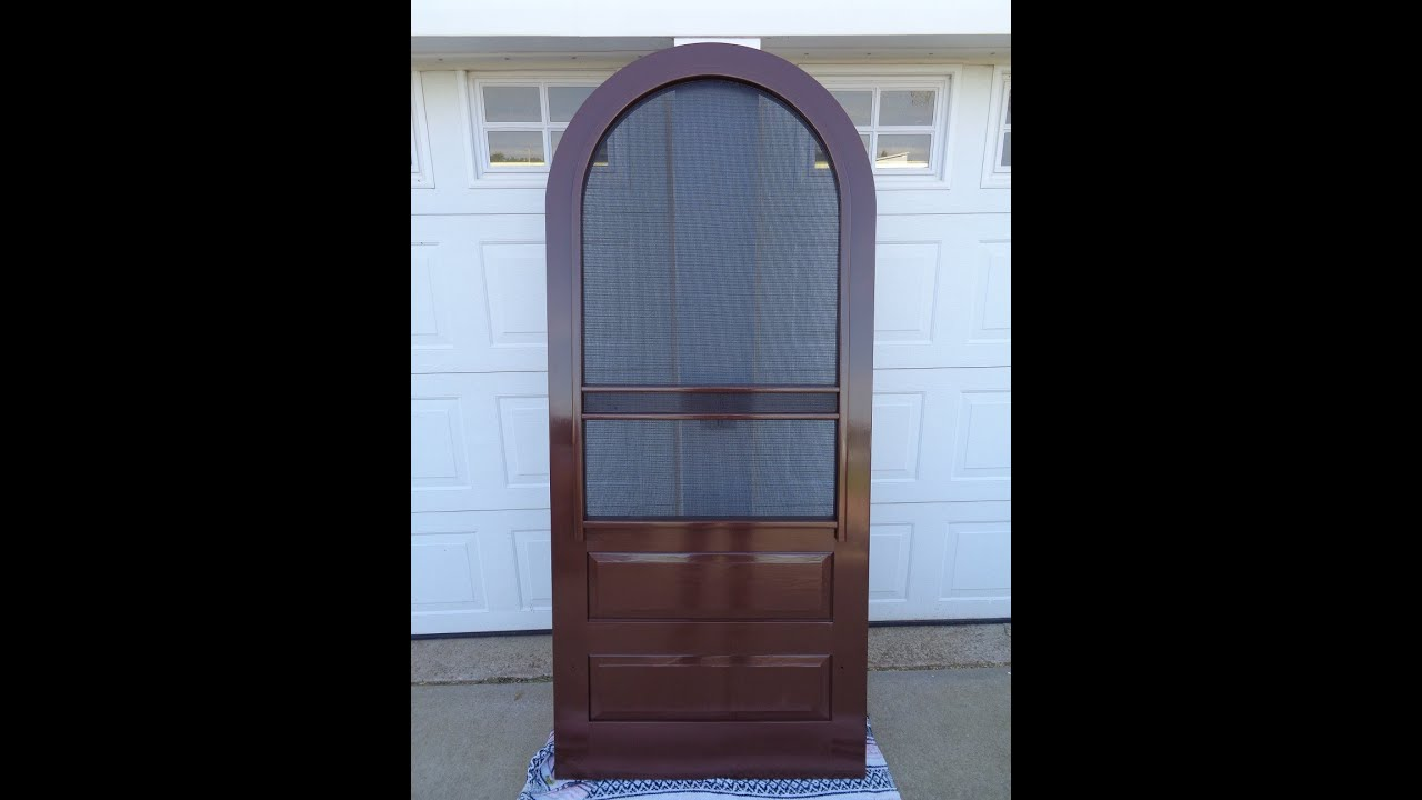 How To Construct A Round Arch Top Screen Door Youtube