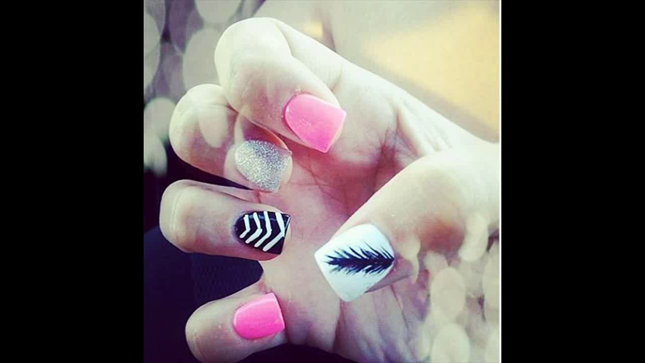 15 Feminine Feather Nail Designs for Pretty Designs - 15 Feminine Feather Nail Designs For Pretty Designs - YouTube