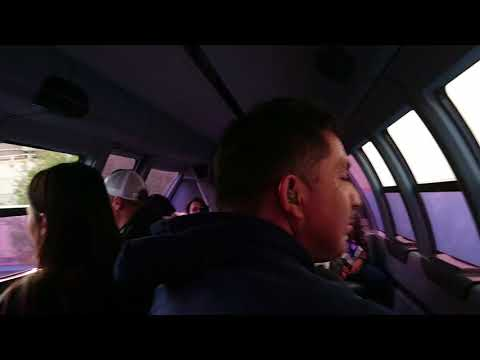 Travel in monorail by Disneyland Park, Anaheim. Los Angeles.California 12-23-2017.