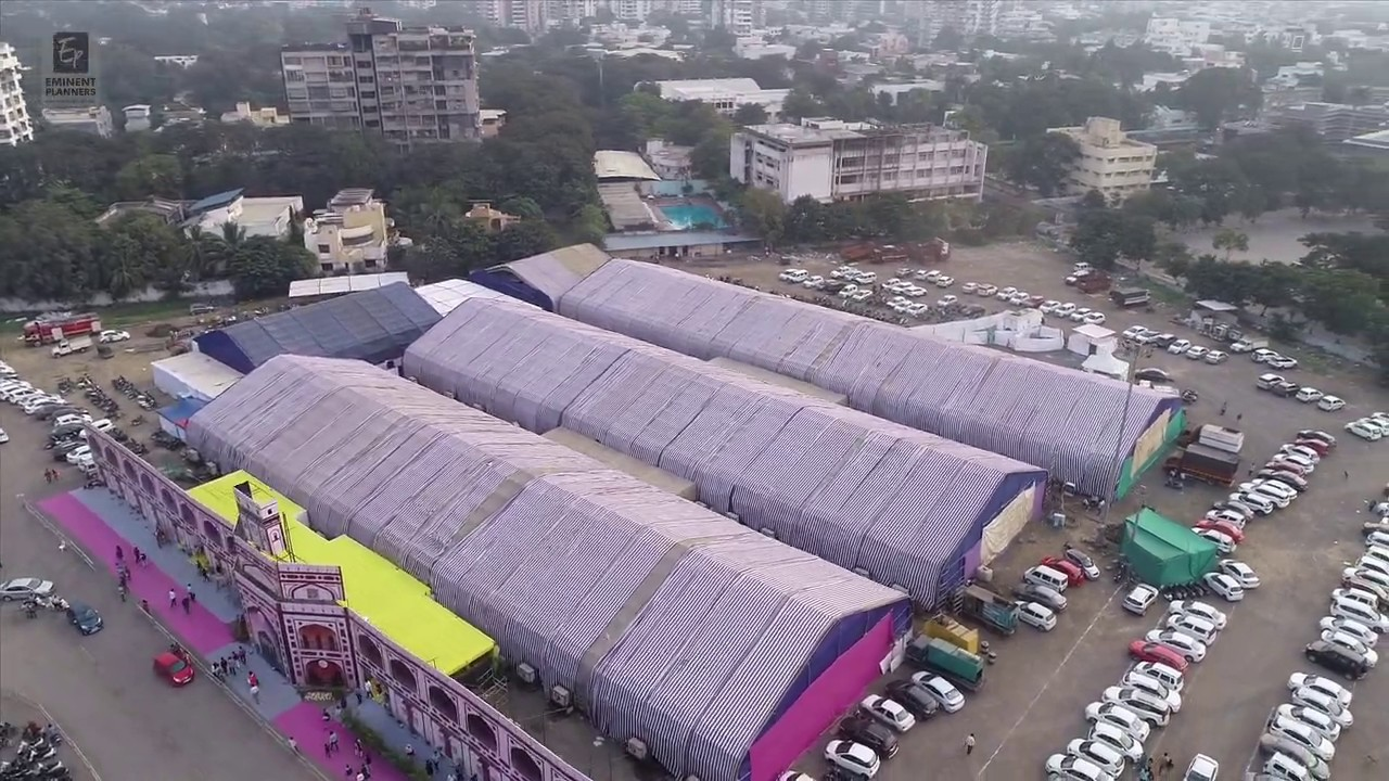 Sthapatya 2020 interior Architectural Building Material Exhibition Drone Shoot 7