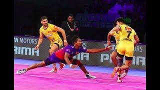 Pro Kabaddi 2018 Highlights - Dabang Delhi vs Telugu Titans [Hindi]