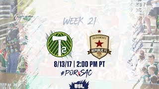 Portland Timbers USL vs Sacramento Republic FC full match