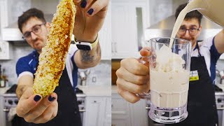 i made elote and horchata