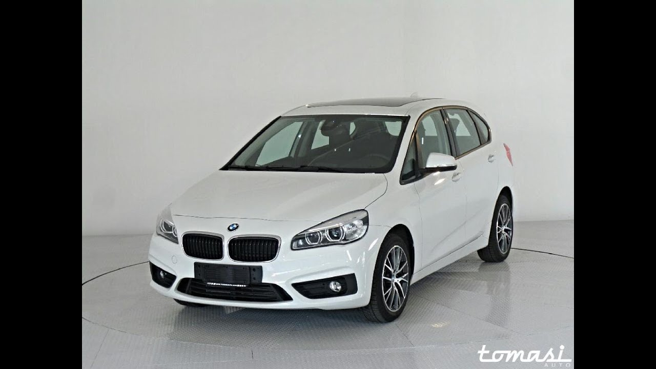 bmw 218d active tourer bianco semestrale youtube. Black Bedroom Furniture Sets. Home Design Ideas