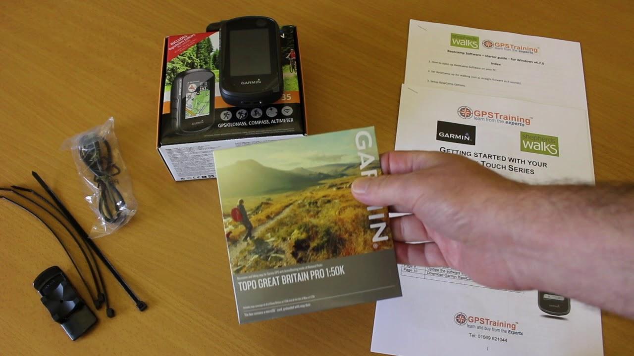 Garmin eTrex Touch 35t with TOPO Great Britain PRO 1:50k - Garmin