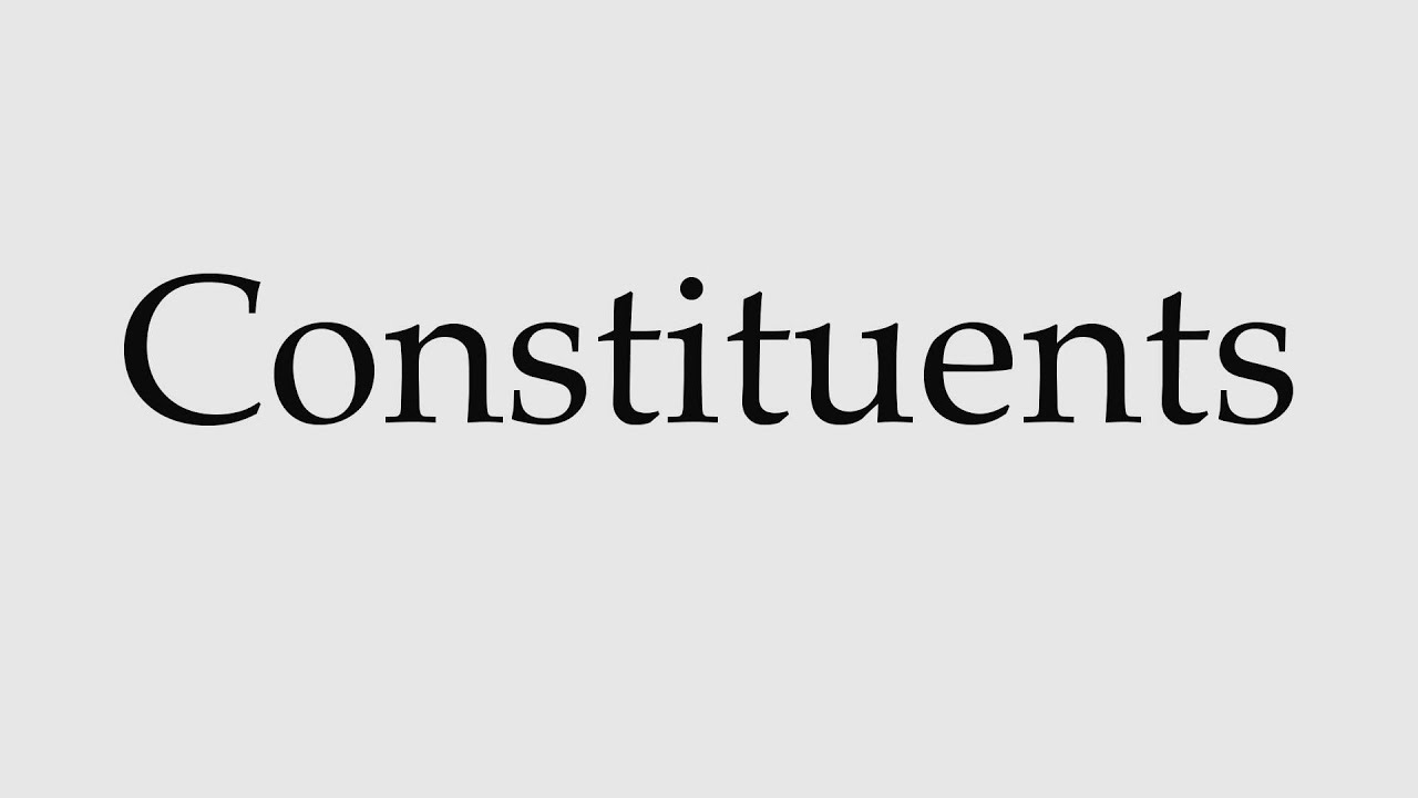 How to Pronounce Constituents