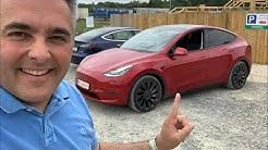 Teaser Tesla Model Y Probefahrt Dreh