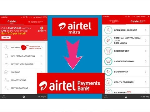Mitra app se airtel payment bank registration Kare मित्रा ऐप से एयरटेल  भुगतान बैंक पंजीकरण करे,