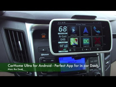 CarHome Ultra for Android - Perfect App for in Car Dock