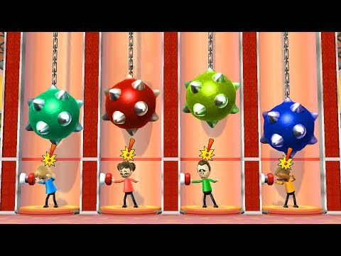 Wii Party Minigames - Player Vs Midori Vs Rainer Vs Jake