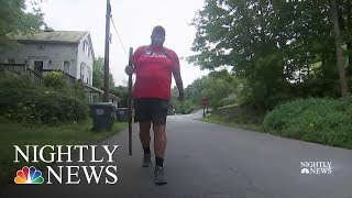 Man Honors Fellow Veterans With Walk Across America | NBC Nightly News