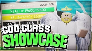 [EXCLUSIVE CODE] GOD CLASS SHOWCASE! HEROES LEGACY! | ROBLOX