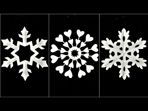 How to Make Paper Cutting Designs | DIY Paper Snowflakes | Easy paper cut wall decor ideas