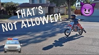 ILLEGAL DIRTBIKE RIDING KID!