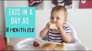 WHAT MY BABY EATS IN A DAY | 11 MONTHS OLD