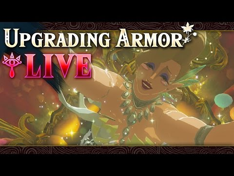 Upgrading Armor - The Legend of Zelda: Breath of the Wild (LIVE)