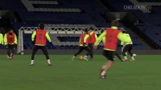FIRST TEAM TRAINING EXTENDED: Watch some great first touches and skills from the lads