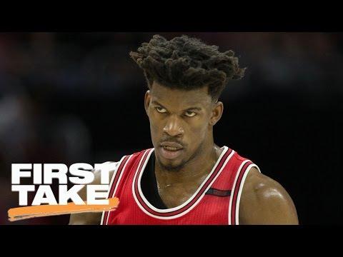 Dwyane Wade Compares Teammate Jimmy Butler To LeBron James | First Take | April 18, 2017