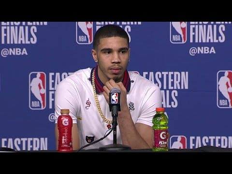 Jayson Tatum Postgame Interview - Game 5 | Cavaliers vs Celtics| 2018 NBA East Finals