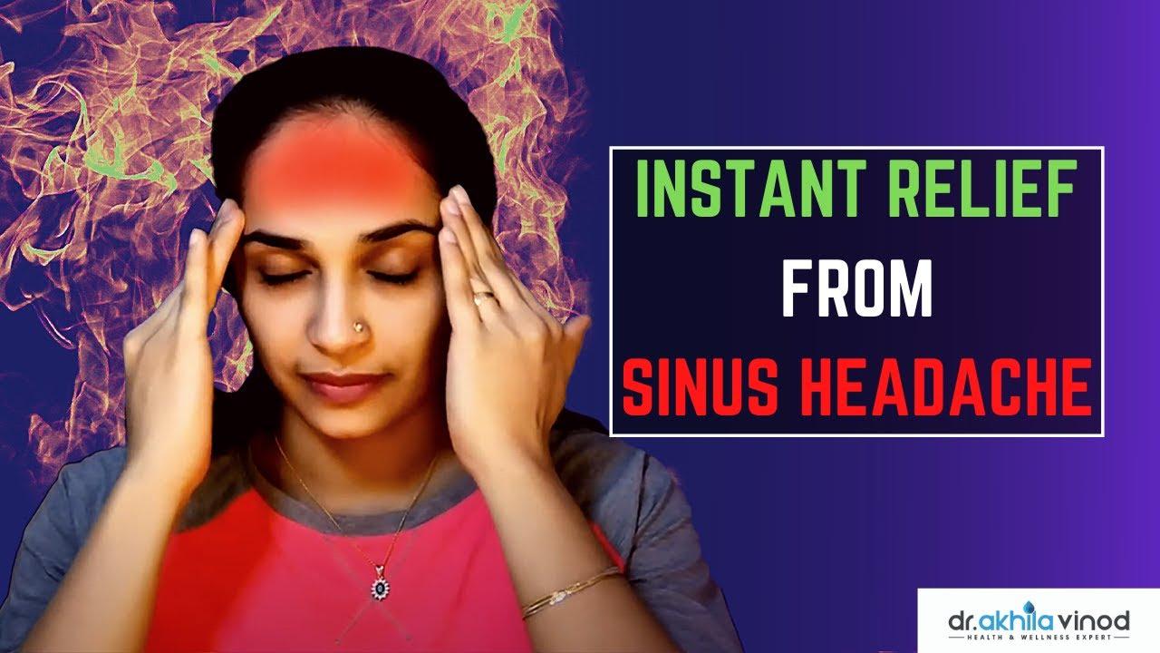 Instant Relief From Sinus Headache | Acupressure | Sinus ...