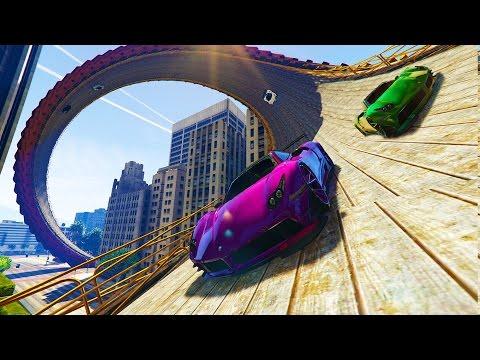 New CRAZY GLITCHED & MODDED RACES!!! w/ My Crew (GTA 5 Mods)