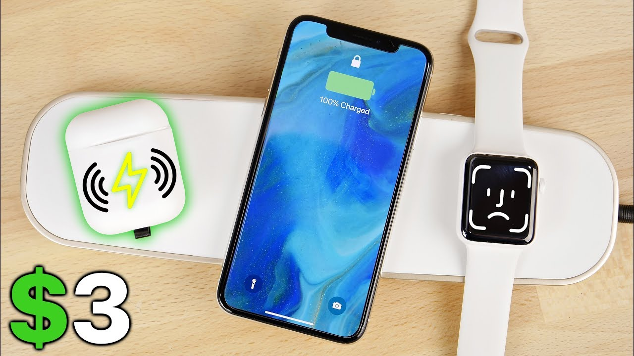 b9e3248094e $3 AirPods Wireless Charging Mod & AirPower Alternative! - YouTube