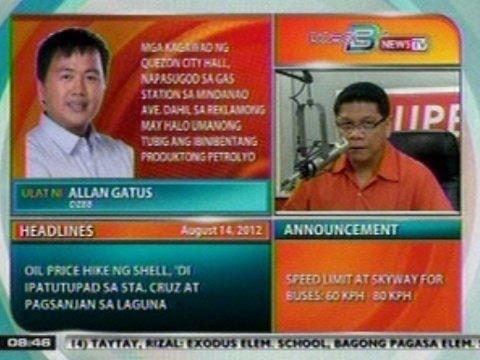 DB: Mga taga QC City Hall, napasugod sa gas station sa Mindanao Ave., dahil sa reklamo