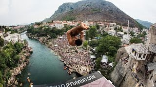 Red Bull Cliff Diving World Series 2015 - Action - Mostar, Bosnia & Herzegovina