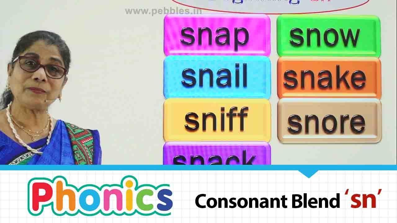Consonant Blends | beginning consonant blend 'sn' | Phonics| Basic English educational Part-93