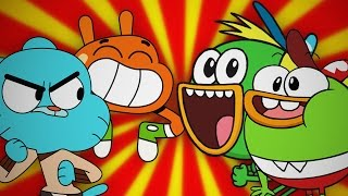 Gumball & Darwin vs SwaySway & Buhdeuce. Epic Rap Battles of Cartoons Season 3