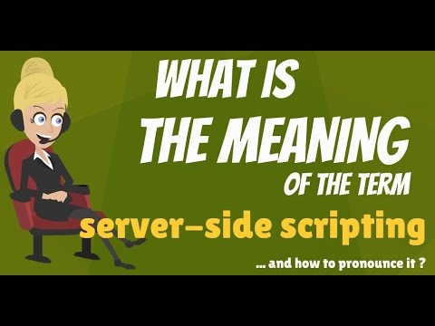 What is SERVER-SIDE SCRIPTING? What does SERVER-SIDE SCRIPTING mean?