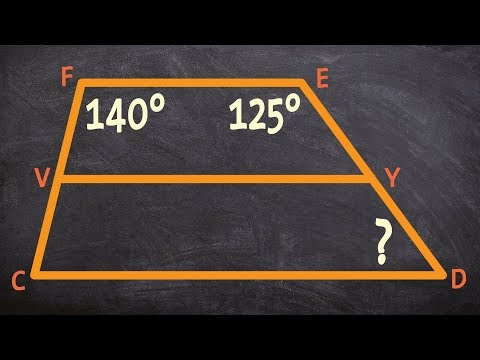 Determining the missing angle of a trapezoid