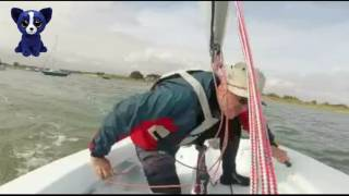 Single handed tacking in a two sail boat