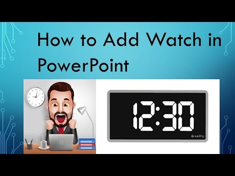 How add #Clock in Powerpoint - YouTube