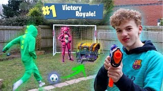 FORTNITE IN REAL LIFE FOOTBALL CHALLENGE