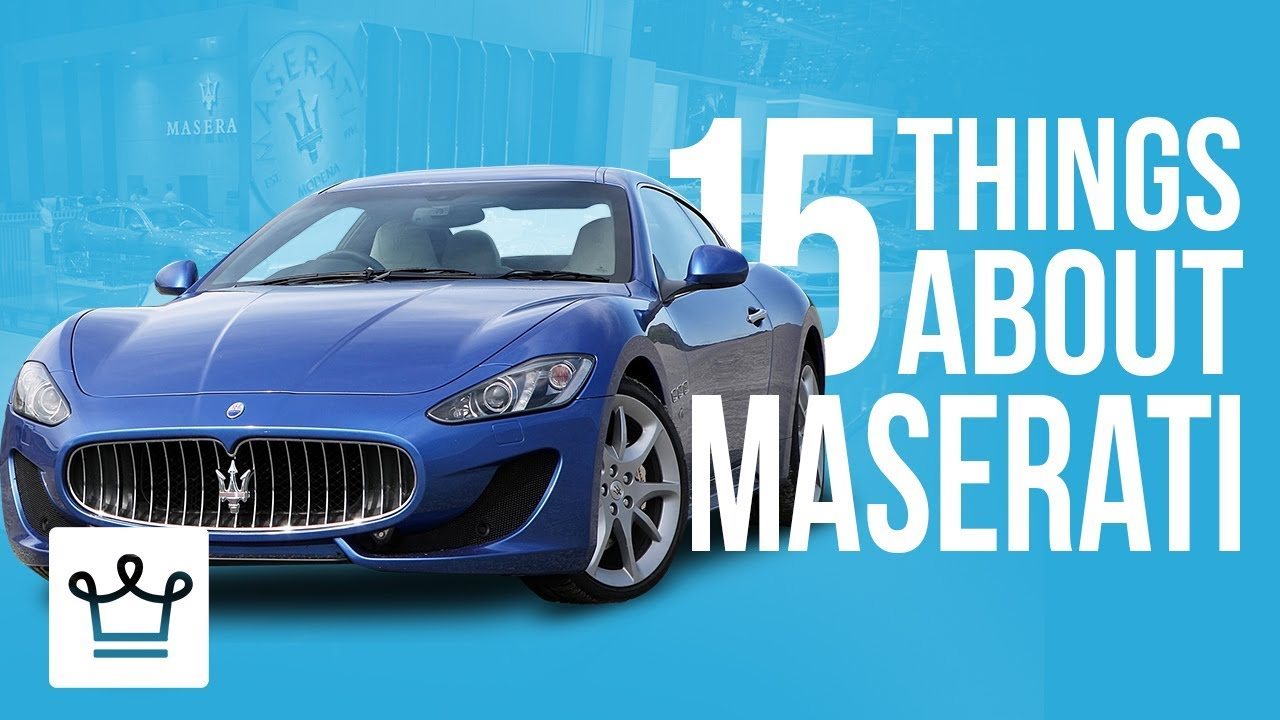 15 Things You Didn't Know About MASERATI - YouTube
