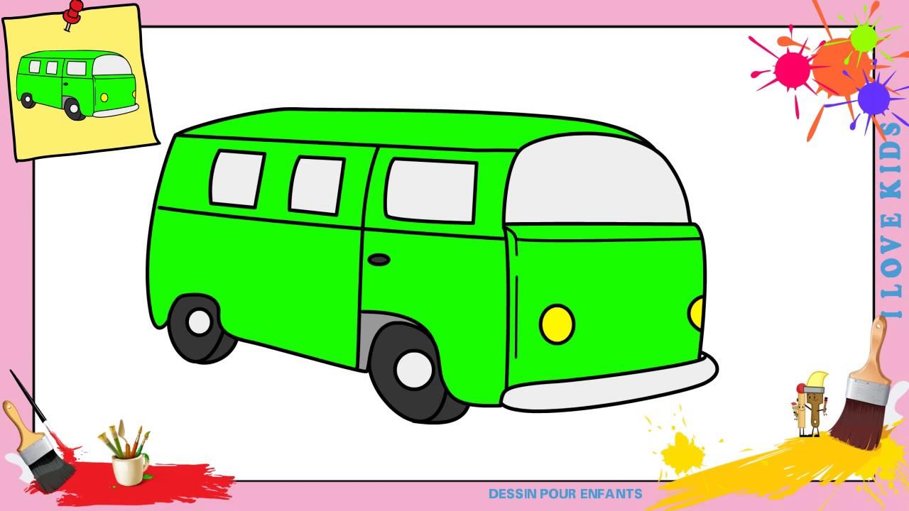 Dessin bus 2 facile comment dessiner un bus facilement etape par etape youtube - Dessiner un bus ...