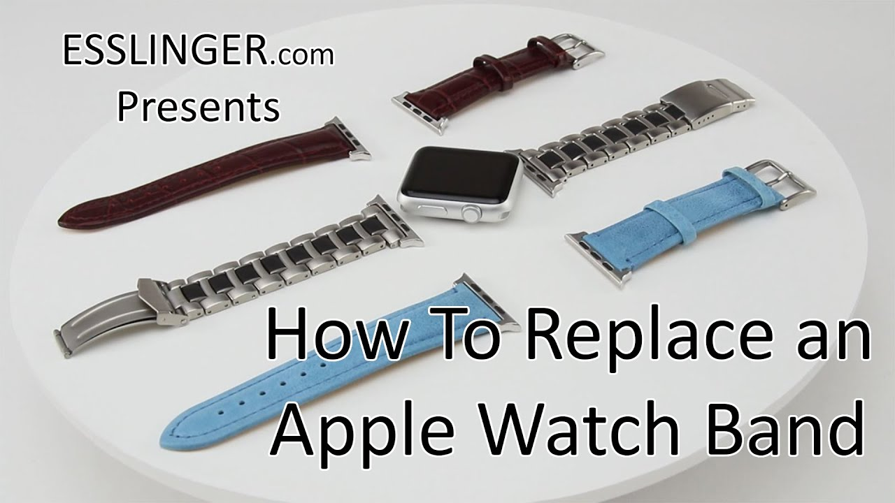 How To Replace Customize Apple Watch Bands Add Custom Strap