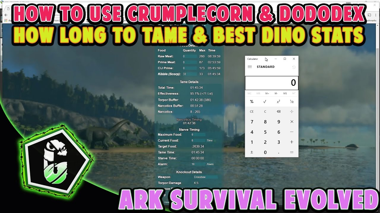 Ark Survival Evolved - How To Figure Out Best Dino Stats & How Long A Tame  Takes