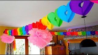 Как украсить комнату на день рождения? Бюджетный и быстрый ДЕКОР// Бельгия осталась БЕЗ БЕНЗИНА! ★14