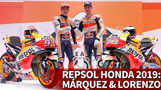 Repsol Honda presentó a Marc Márquez y a Jorge Lorenzo de cara a 2019 | Diario AS