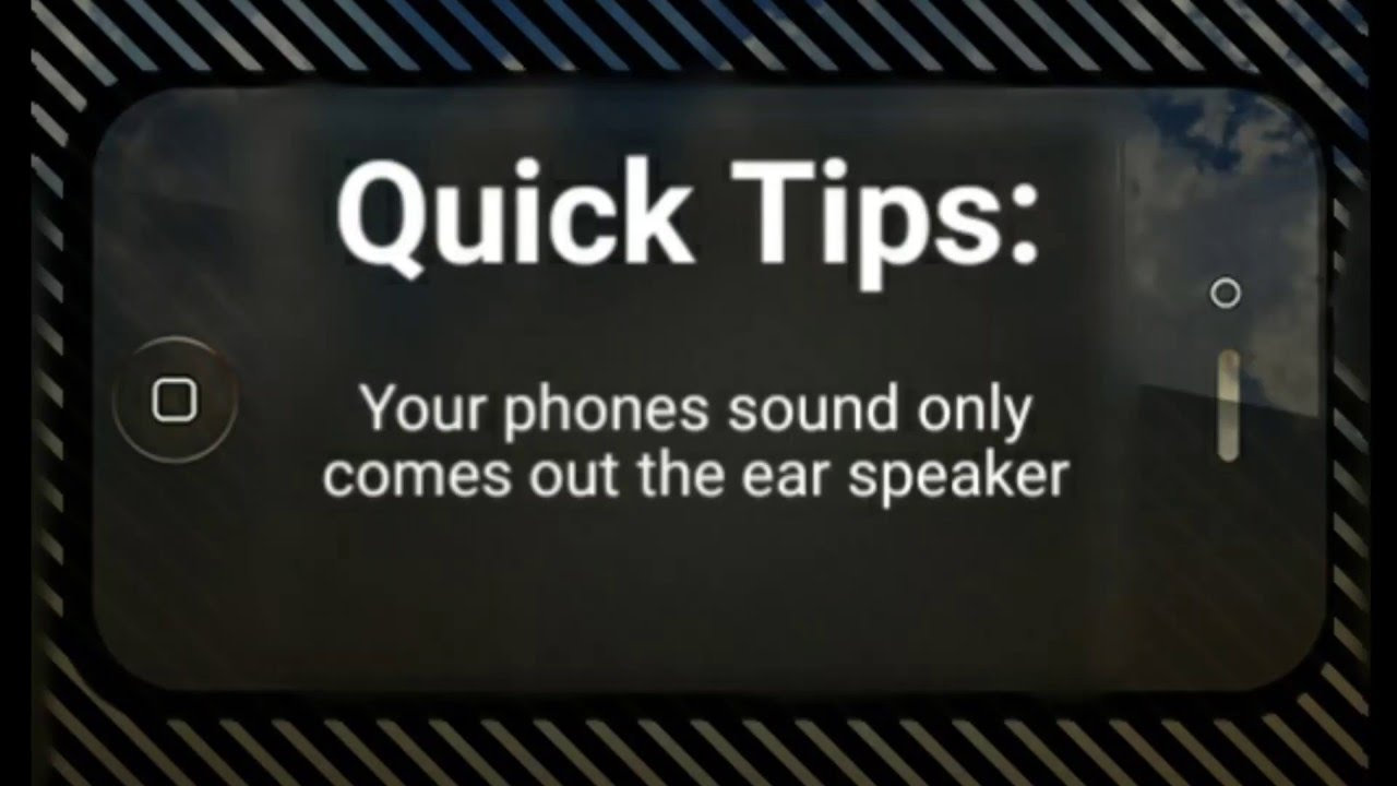 Quick Tips: Your phones sound only comes out the ear speaker