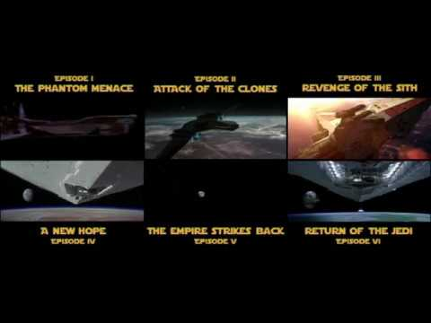 Side By Side Star Wars Opening Scenes Comparison Episode I To Vi Youtube
