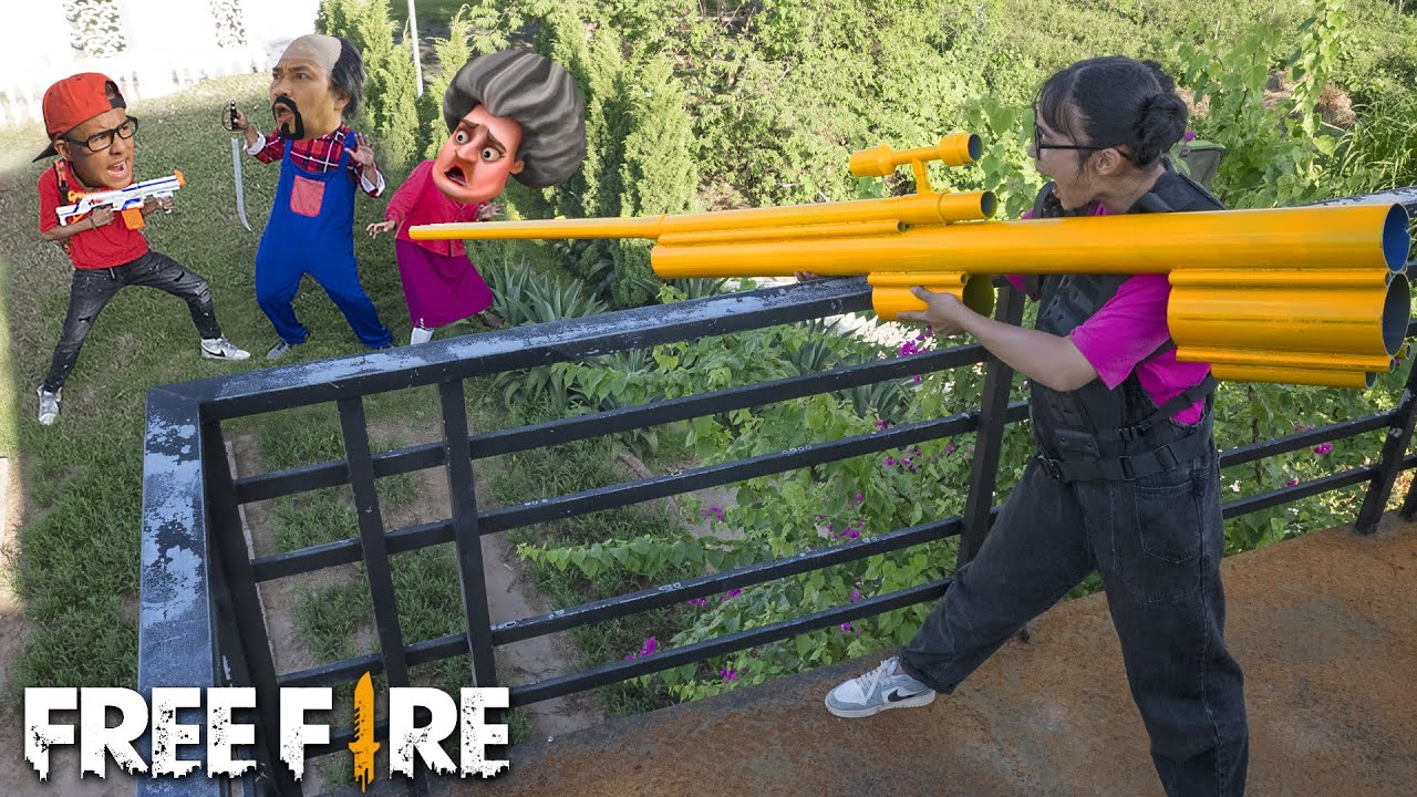 Download Scary Teacher 3D In Real Life : Nick and Miss T & Francis Play Game Free Fire in real life | Comedy