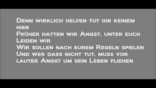 Fard - Ziel und Schieß -Lyrics on Screen -