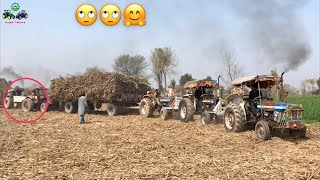 Ford Tractor | Hard Struggle Pulling out Trailer | Ford 3610, Ford 4600, Ford 4610, Belarus Mtz 50