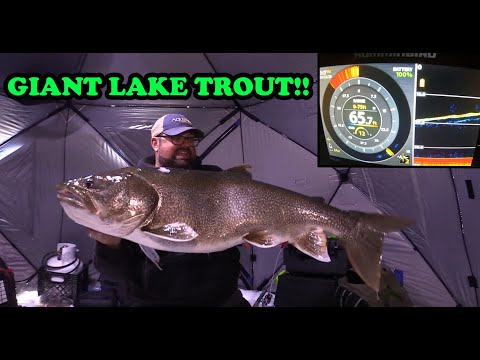 I CAUGHT A GIANT! | Ice Fishing Lake Trout- BACK 2 BACK!!